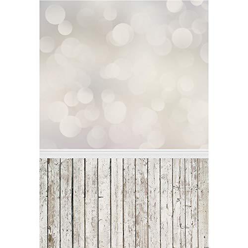 Muzi 150x 220cm Fotografie Hintergrund Papier Licht glitter Bokeh mit Holz Boden Hintergrund für Foto Studio Video Shooting d-078