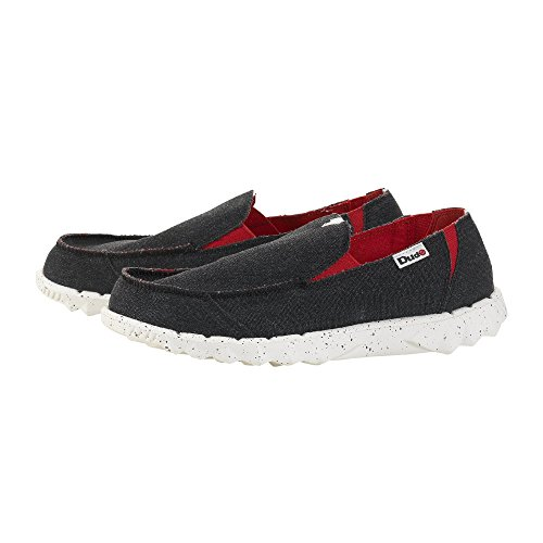 Dude Shoes ,  Herren Sneaker Low-Tops schwarz/red