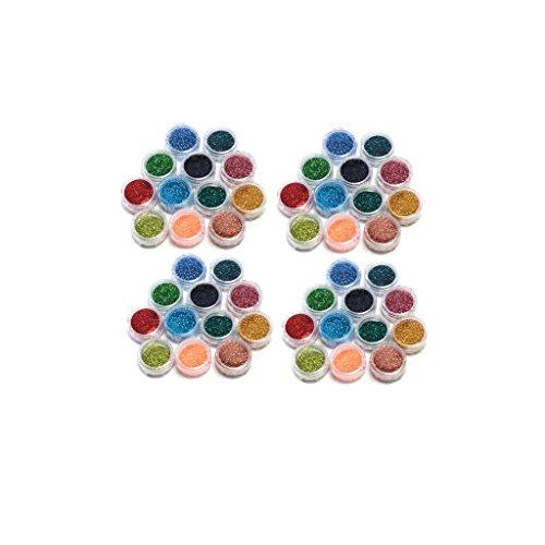 KurtzyTM 48 pots de Paillettes en Poudre Acrylique Fine pour Manucure Étincelante et Arts Créatifs