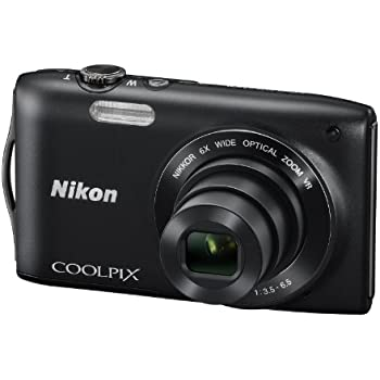 Nikon Coolpix S3300 Digital Camera - Black (16MP, 6x Optical Zoom) 2.7 inch LCD