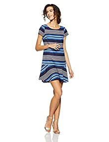 cec1fc6d49a Tommy Hilfiger Women's Shift Dress (A6BWV005_Strong Blue and Multicolor_4)