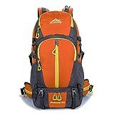 AHWZ 45L Wanderrucksack Wasserdichter Rucksack Outdoor-Sport Rucksackreise Wandern Camping Rucksack Fahrradtasche, Orange