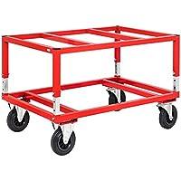 Palettenroller mit Elastic-Vollgummi-Rollen Traglast 1200 Kg Ladehöhe 282 mm