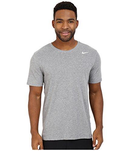 Nike Herren Dri-Fit Cotton Kurzarm 2.0 T-Shirt, Grau (Carbon Heather/Carbon Heather/Weiß), Medium (Crew-weiß-kleidung)