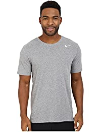 Nike Dri-Fit Cotton Version 2.0, Men's T-shirt, Grey (Carbon Heather/Carbon Heather/White), XX-Large