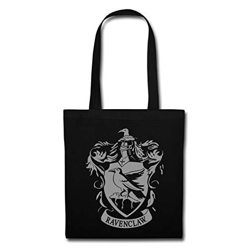 Spreadshirt Harry Potter Ravenclaw Wappen Stoffbeutel, Schwarz