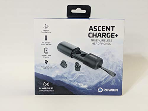 Rowkin ascent charge+: i più piccoli auricolari wireless, oltre 50 ore di utilizzo. custodia di ricarica compatibile con bluetooth 5 e qi. riduzione del rumore e microfono per android samsung e iphone