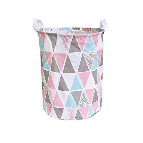 Cesto de ropa infatil con diseño rosa
