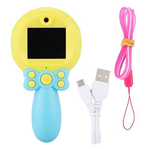 Denash Zauberstab geformt Kinderkamera Digitalkamera, Mini tragbare Kamera HD 1080P, Spielzeug Kamera präsentiert für Kinder(Blau) Digital-video-kabel-geformt-kabel