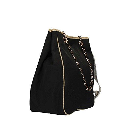 LE PANDORINE Borsa Nylon Bag Problema,AI17DBO02130 06, manici e tracolla Blu scuro