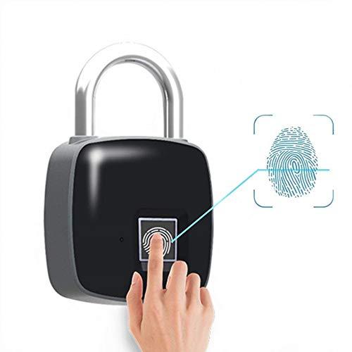 SMART d'empreinte digitale biométrique Cadenas, Farsler étanche Antivol sans clé Cadenas d'extérieur pour club de gym, Cargo, porte, Sac à dos, Valise, Valise, bureau, une longue durée et de prise en charge USB de chargement