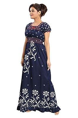 Inner Beats Women's Cotton Nighty (PSN103, Multicolour, Free Size)