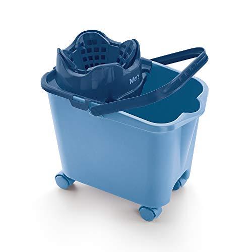 Mery Cubo con Escurridor Automático para Fregona, Azul, 38.20 X 25.50 X 39 Cm