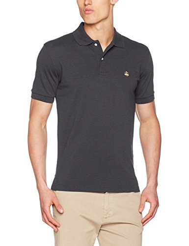 Brooks Brothers Herren Poloshirt grau Grigio (Charcoal) X-Unfettered