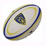 Gilbert Clermont Auvergne - Ballon de Rugby Réplique Officiel - Blanc/Bleu/Jaune - taille 5