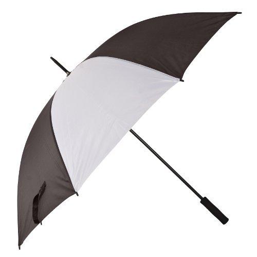 Golf Regenschirme - Schwarz & Weiß (Schwarz Regenschirm, Weiß Golf Und)