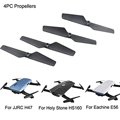 RC Drone Quadrocopter Accessories, UPXIANG 4PCS Propeller for Eachine E56 JJRC H47 Holy Stone HS160 RC Quadcopter Spare Part by UPXIANG
