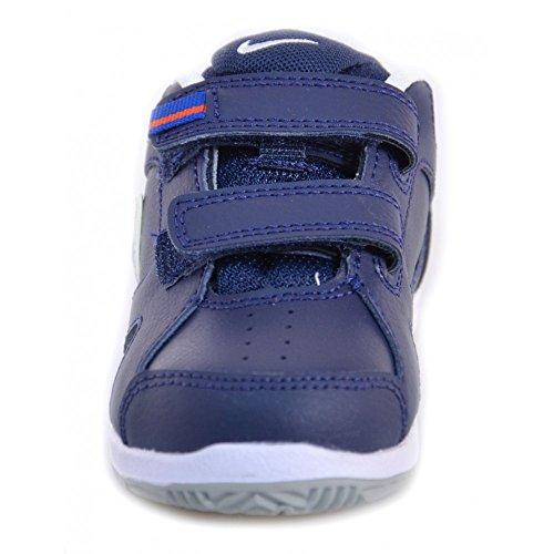 Nike - Nike Lykin 11 Scarpe Bambino Pelle Strappi Velcro 454476 Bleu