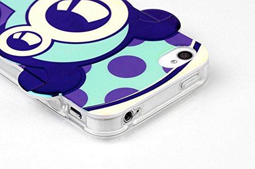 yaobaistore Fashion Qualité élégante Hot Lovely Robot Robot Face Étui Coque Souple en TPU pour Apple iPhone 44G 4S - Style 1