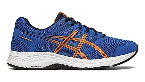 ASICS Herren Gel-Contend 5 Laufschuhe, Blau (Lake Drive/Shocking Orange 404), 46 EU (Schuhe Lake)