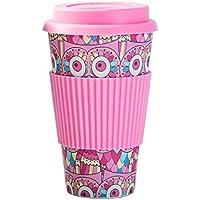 Tazas de bambú, tazas de café con tapa, cafés ambientalistas, para la cocina familiar, para viajar al aire libre