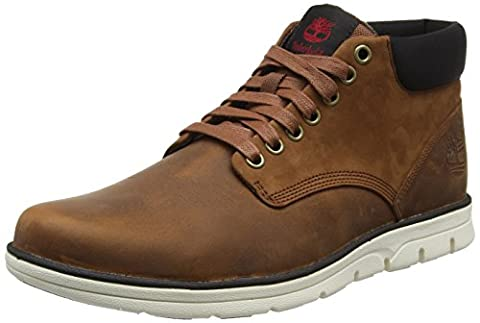 Timberland Bradstreet Leatherred Brown Fg, Bottes Chukka Homme, Marron (Red Brown Fg), 45 EU