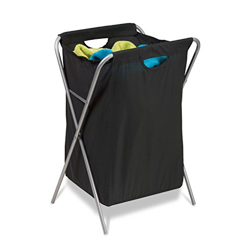 honey-can-do-hmp-01635-nylon-fold-up-hamper-in-metallo-colore-nero