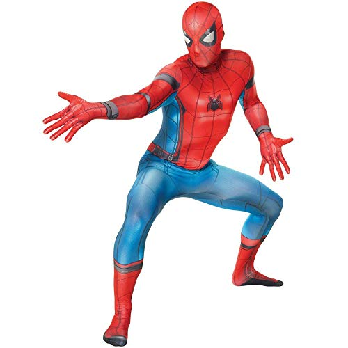 TUJHGF Spiderman Kostüm Cosplay Erwachsene Siamy Strumpfhosen Weihnachten Halloween Kostümfest Film Spiel Requisiten,Homecoming-Medium