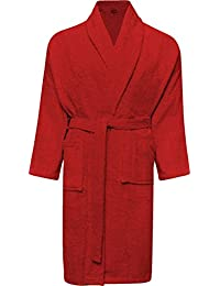 1b8443c7f6 Mens and Ladies 100% Cotton Terry Toweling Shawl Collar White Bathrobe  Dressing Gown Bath Robe