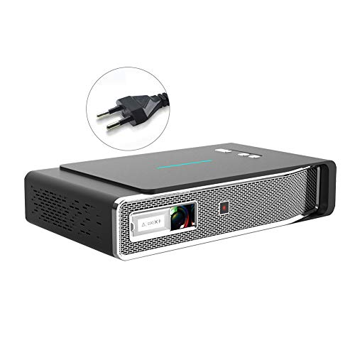 ZqiroLt V5 Portable Home Theater 3D DLP 1080P HD Bluetooth 5.0 Smart Video Projector Black *EU Plug