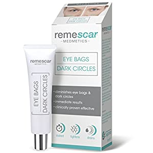 Remescar Eye Cream for Eye Bag Removal & Dark Circles Treatment with Clinically Proven Immediate Results (8ml)