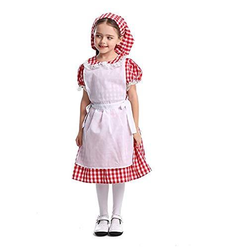 Clearance Halloween Kostüm Kinder - HIU Mädchen Rotkäppchen-Kostüm-Halloween-Haube Cosplay Kap-Partei-Kleid Für