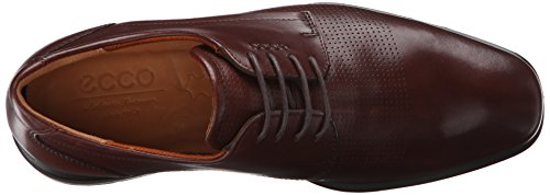 Ecco Men's Cairo Perforation Tie Oxford Rust