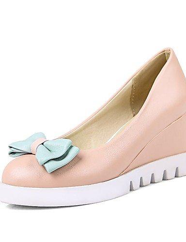 WSS 2016 Chaussures Femme-Bureau & Travail / Habillé / Décontracté-Bleu / Rose / Blanc-Talon Compensé-Compensées / Talons / Confort / Bout Arrondi- blue-us8 / eu39 / uk6 / cn39