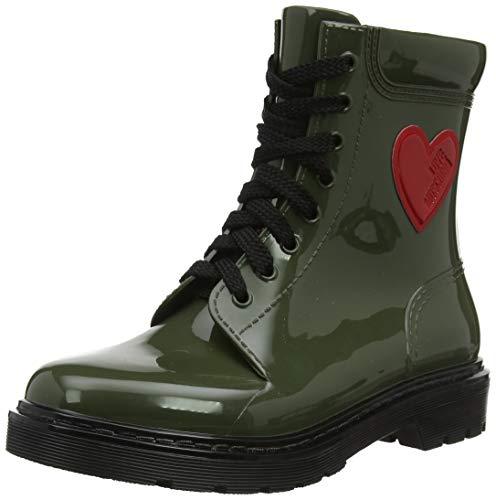 Love Moschino St.Ttod.Gomma 30 mm, PVC, Stivali da Combattimento Donna, Verde (Militare 852), 40 EU