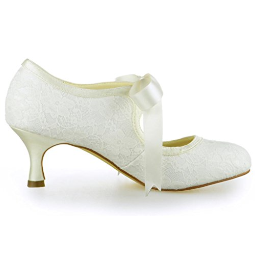 Jia Jia Wedding Hochzeitsschuhe Brautschuhe Damen Pumps Beige - 3