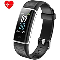 KALINCO Fitness Trackers, Activity Tracker Heart Rate Monitor Watch with Color Screen, IP68 Waterproof, Sleep Monitor, SNS Notification, Pedometer Smart Watch for Men, Women and Kids
