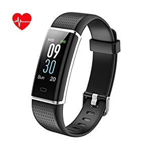 41bWICRefjL. SS300  - KALINCO Fitness Trackers Color Screen, Sports Watches Activity Tracker Pedometer Smart, Smart Wristband with Heart Rate Monitor, IP68 Waterproof, Activity Recording for Men, Women and Kids