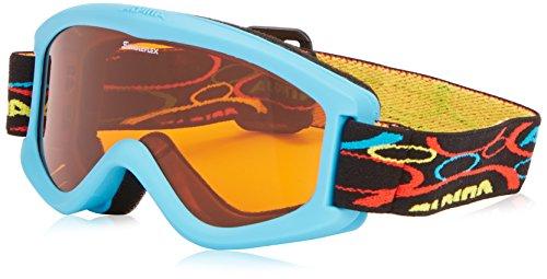 ALPINA Kinder Skibrille Carvy 2.0,cyan, One Size, 7076488