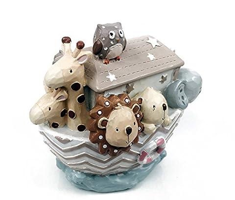 Tirelire Poupee - Cadeau bébé–Tirelire Arche de Noé en Résine