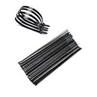 FOOKANN Self-Locking Nylon Cable Ties Black (Set of 250pcs), 300mm Wire Ties for TV, Computer, Office, Household and Outdoor Tasks