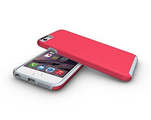 Iphone 6 Plus Coque,Étui Housse Protection Shell Case Couverture Defender TPU de + PC Forte Hybride Téléphone Capa Cas Pour Apple iPhone 6/6s Plus -Noir Rouge