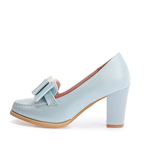 Puramente Sorteio Macio Sapatos Pé Azuis Voguezone009 Dedo Em Do Alta Calcanhar Senhoras Material Para Torno De Bombas RwwqYCx