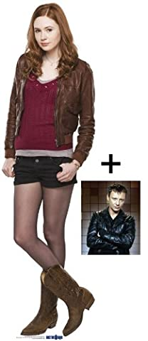 *FAN PACK* Doctor Who - Amy Pond (Karen Gillan) TABLETOP CARDBOARD CUTOUT (STANDEE / STANDUP) - INCLUDES 8X10 (25X20CM) STAR PHOTO - FAN PACK