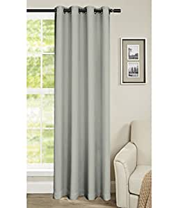 Cliths Polyester Room Darkening Beige Blackout Curtains - 1 Piece (4.5 x 7 Feet)