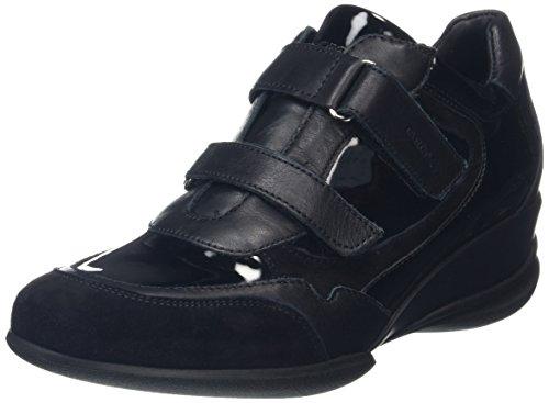 Geox D Persefone A, Baskets Basses Femme Schwarz (BLACKC9997)