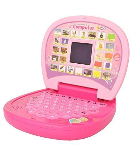 VE Educational Computer ABC and 123 Learning Kids Laptop with LED Display and Music