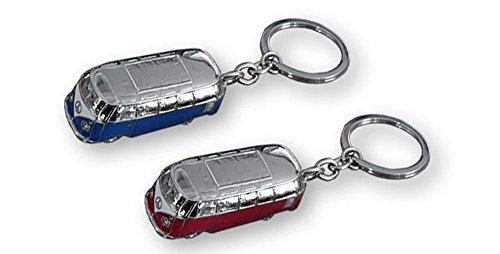 Llavero diseño furgoneta. Acero inox. 2 colores: rojo o azul. 1 unidad