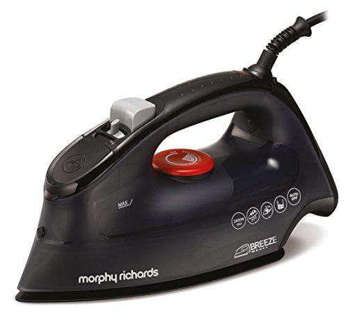 Morphy Richards 300260 - Plancha (Plancha a vapor, Suela de cerámica, 120 g/min, Negro, Rojo, 45 g/min, 0,35 L)