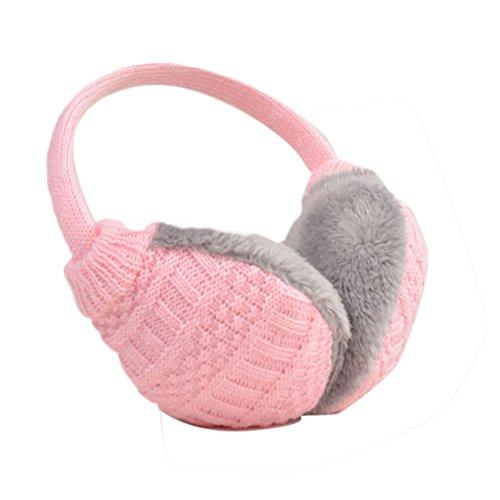Nanxson(TM) Cache-oreilles Unisexe En Tricot Contre Le Froid Multi-couleurs EZ0001 rose clair